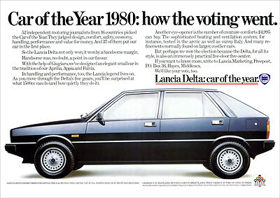 Lancia Delta Retro A3 Poster Print From Classic 80's Advert