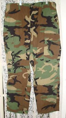 Trousers Woodland Camouflage Twill Large-Long Unused $24.98 Free Shipping