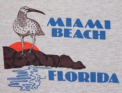 M * thin vtg 80s MIAMI BEACH FLORIDA tourist t shirt * 27.135