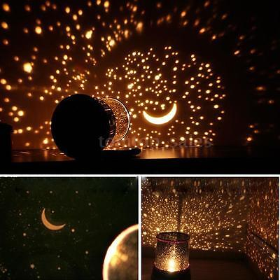 Romatic Gift Cosmos Moon Star Master Projector LED Starry Night Sky Light L S6V3