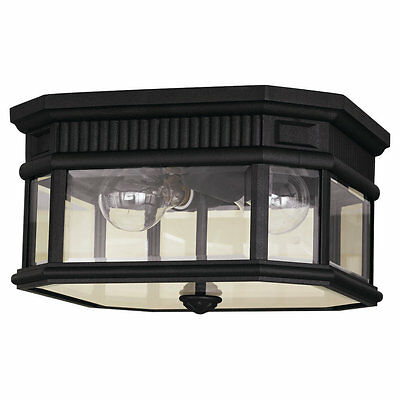 2 -light Cotswold Lane Ceiling Fixture in Black