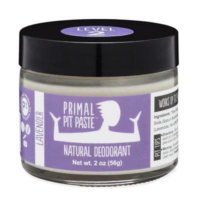 PRIMAL PIT PASTE JAR Natural Deodorant No Aluminum Lavender 2 oz