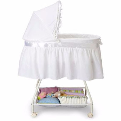 White Bassinet Baby Basket Cradle Crib Nursery Infant Newborn Portable Sleeper