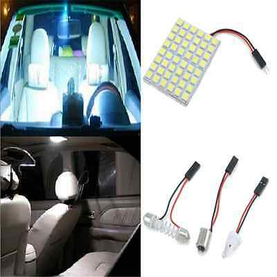 1X Car Interior White 48 SMD 5050 LED Light Lamp Panel T10 Festoon Dome BA9S 12V
