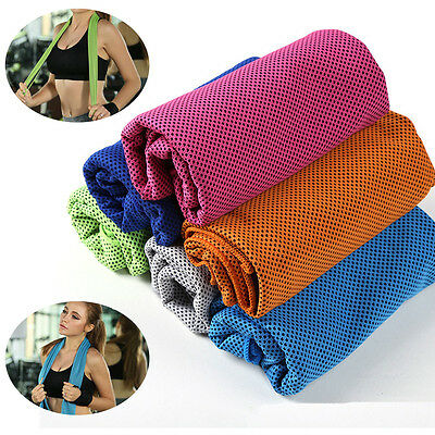 Ice Cold Enduring Running #B Jogging Gym Chilly Pad Instant Cooling Towel Sports