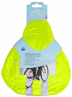 Waterproof Bike Seat Cover Bicycle Saddle Plastic Rain Cover - Pink / Yellow