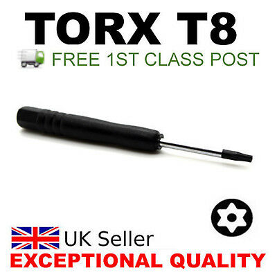 Brand New Black T8 Torx Screwdriver Tool For Xbox 360 Controlers And Ps3 Slim