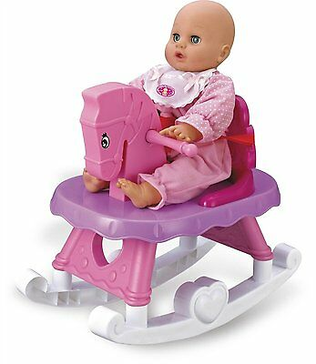 Charles Bentley Children's Toy Baby Doll Rocking Horse With Music Melody