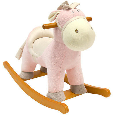 Charles Bentley Rocking Donkey Nursery Infant Rocker Animal Horse Pony Toy -Pink
