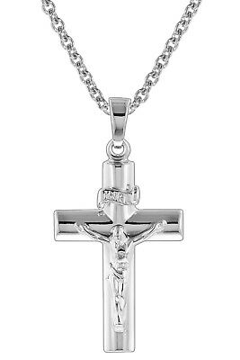 Trendor Jewellery Silver Necklace with Crucifix 73419