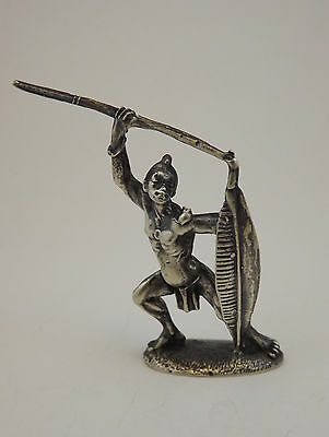 Miniatura Indigeno Africano Argento  Silver African Tribal Native Miniature