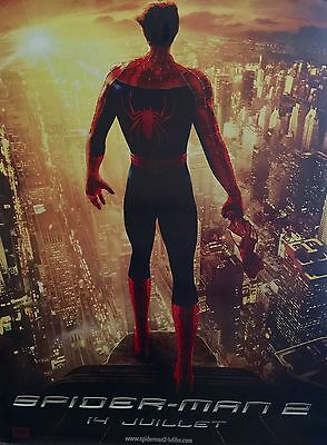 """Spider-Man 2 Original Adv French Movie Poster 2004 62"""" X 46 """"Rolled D/S"""