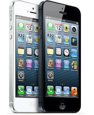 Apple iPhone 5-16GB 32G 64GB(Factory Unlocked)GSM Smartphone Black-Whit Phone*