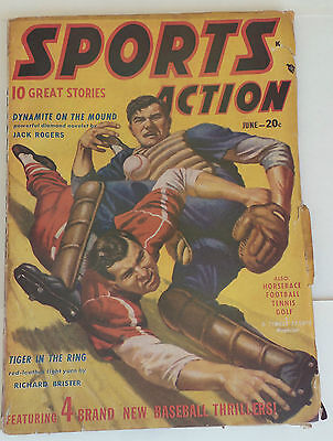 Sports Action Comic Book Boxing-Baseball Football Fight 1948 Vol 4 No. 4