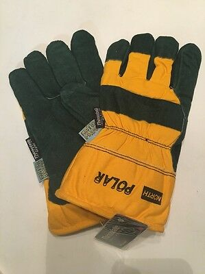 3M North Polar Winter Insulated Waterproof Leather Gloves, Large 70/8110NKY