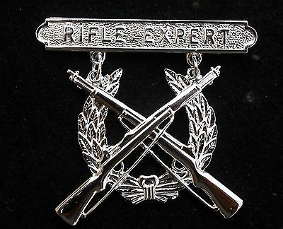 Rifle Expert Badge Made In Us Marine Corps Device Weapons Hat Pin Range Qual