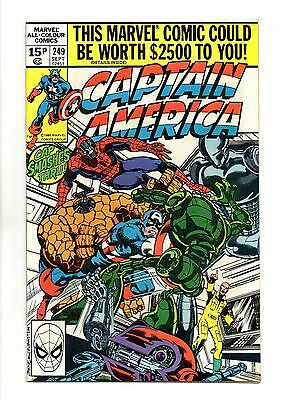 Captain America Vol 1 No 249 Sep 1980 (VFN+ to NM-) Modern Age (1980 - Now)
