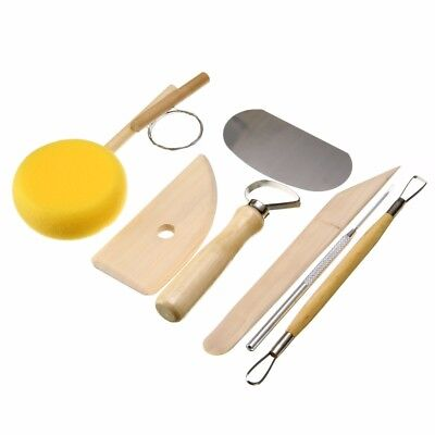 8Pcs Pottery Wax polymer Clay Ceramics Sculpture Molding Carving Making Tool Set