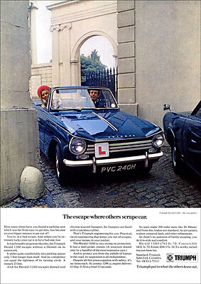 Triumph Herald 1360 Retro A3 Poster Print From 70's Advert