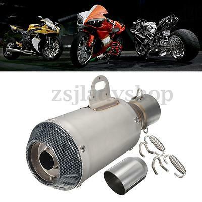 38-51mm Stainless Steel Exhaust Muffler Silencer Pipe Slip on Scooter Motorcycle