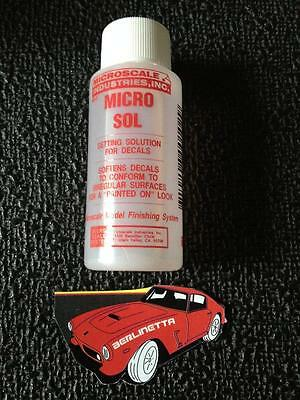 MICROSCALE MICRO SOL SETTING SOLUTION & SOFTENER FOR DECALS 1 fl.oz