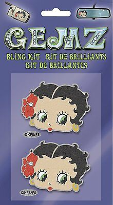 Licensed Iconic Betty Boop Glitter 2pc Bling Kit Gemz Decal Chroma Graphics Car