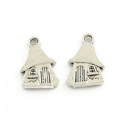 House Charm/Pendant Tibetan Antique Silver 15mm  50+ Charms Accessory Jewellery