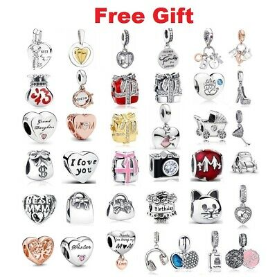 Authentic 925 Sterling Silver Home & Family Bead Charm fit European Bracelet