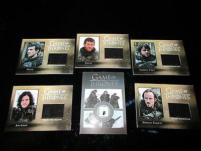 Game of Thrones Season 5 Complete Master Set with Gold Parallel & Binder (Five)