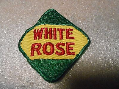 Vintage White Rose Gasoline Patch