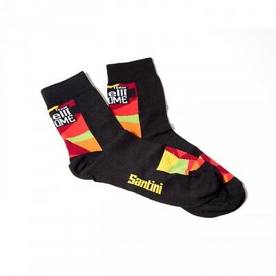 2014 Cinelli Chrome Cycling Socks - made in Italy by Santini