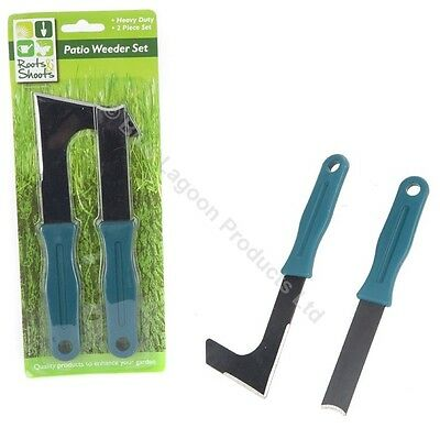 Patio Weeder Tool Set Weed Weeding Remover Garden Paving Slab Groove Moss