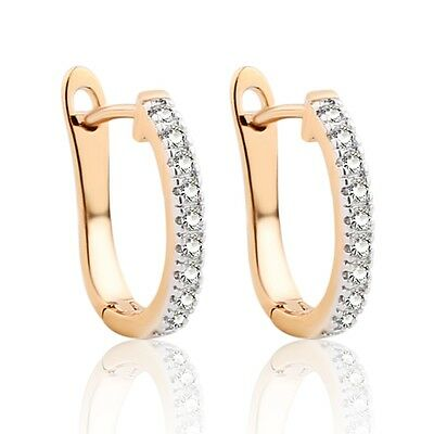 Fashion vintage 18K gold filled sapphire crystal lady hoop earrings jewelry