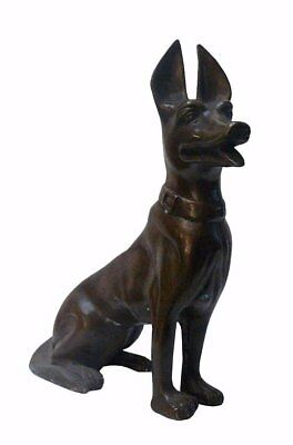 Metal Bronze Dog Animal Figure cs188