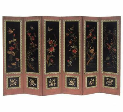 Chinese Antique Birds & Flowers Four Season Hand Embroidery Display Panel f783