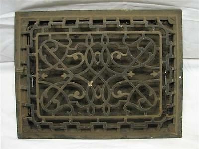 Iron Floor Victorian Scroll Raised Register Heat Grate Vent Grille 12 X 9 H