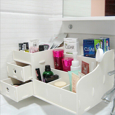 WPC Makeup Cosmetic Holder Perfume Jewellery Case Storage Organizer Box Drawers