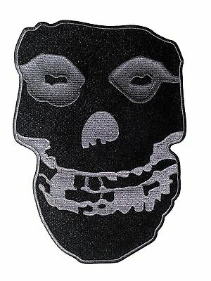 "MISFITS black & grey skull LARGE 10"" BACK PATCH -the p2811x Free U.S. Shipping"