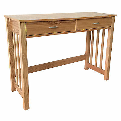 Charles Bentley Ashton Console Table w/ Two Storage Drawers Wooden Veneer Finish