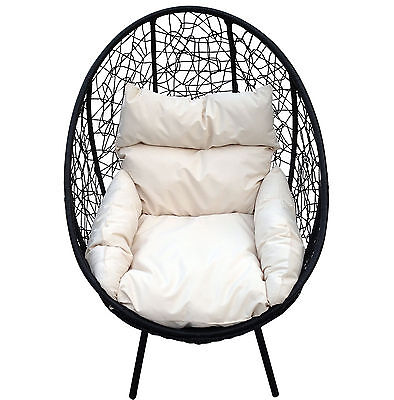Charles Bentley Pod Chair Shell Ball Globe Armchair For Garden Patio Deck