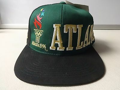 NWT Old Stock Vintage 1996 Olympic Games Atlanta Snapback Ball Cap OSFA Eastport