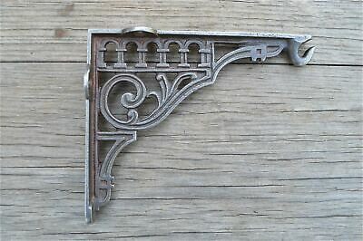 Victorian style cast iron wall hanging basket hook bracket light bracket