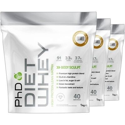 PhD Nutrition Diet Whey High Protein Weight Fat Loss Matrix 1Kg - ALL Flavours