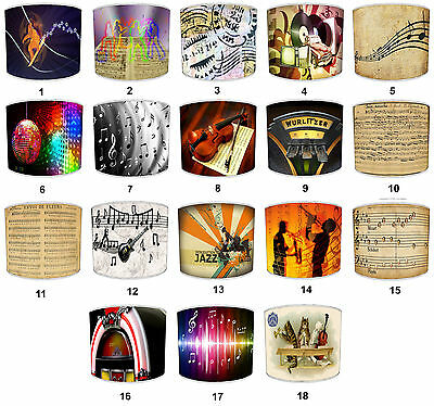 Musical Notes Music Instruments Lampshades Ideal To Match Duvets & Wall Decals.
