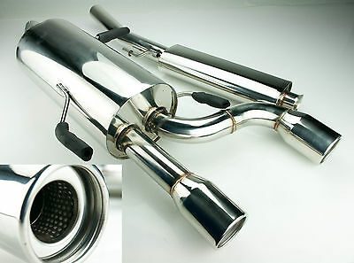 """Toyosports 3.5"""" Stainless Race Exhaust From Cat For Renault Clio 182 2.0 16V"""