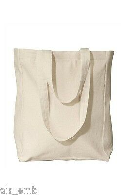 Canvas Tote Bag Grocery Shopping Flat Bottom Blank to Print Decorate Embellish