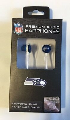 Seattle Seahawks iHip Premium Audio Kopfhörer Earbuds - iPhone iPod NEU