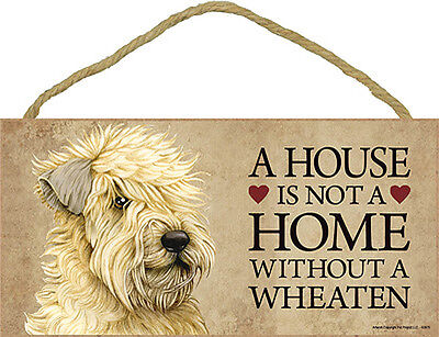 Soft Coated Wheaten Terrier Indoor Dog Breed Sign Plaque – A House Is Not A Home