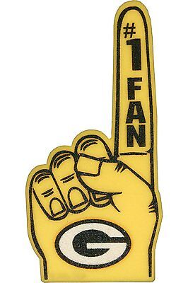 Green Bay Packers Schaumstoff Finger #1 Fan - 18 in! Ideal für Spiel Tag Party