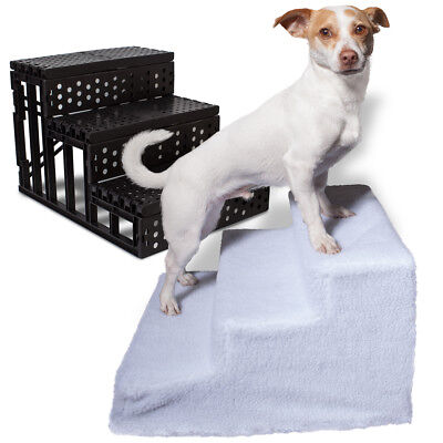 Dog Pet Stairs Steps Indoor Ramp Portable Folding Animal Cat Ladder with Cover